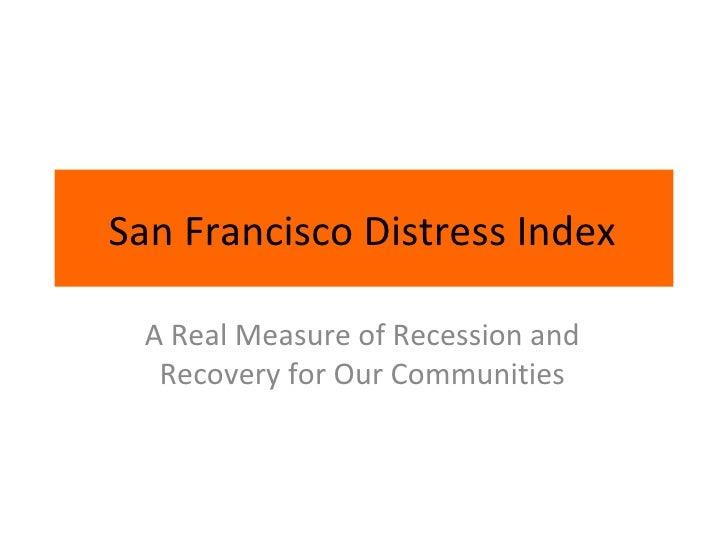 San Francisco Distress Index