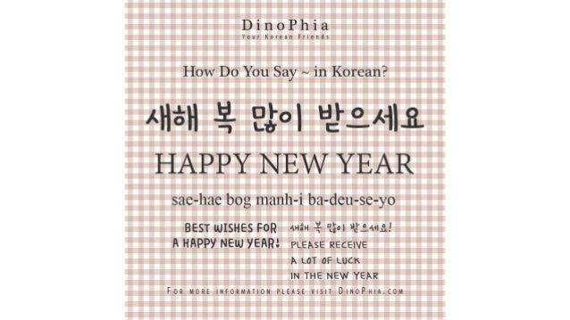 새해 복 많이 받으세요 Happy New Year Korean How Do You Say in Korean