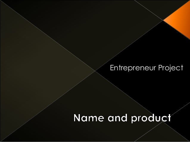 Name and product or service