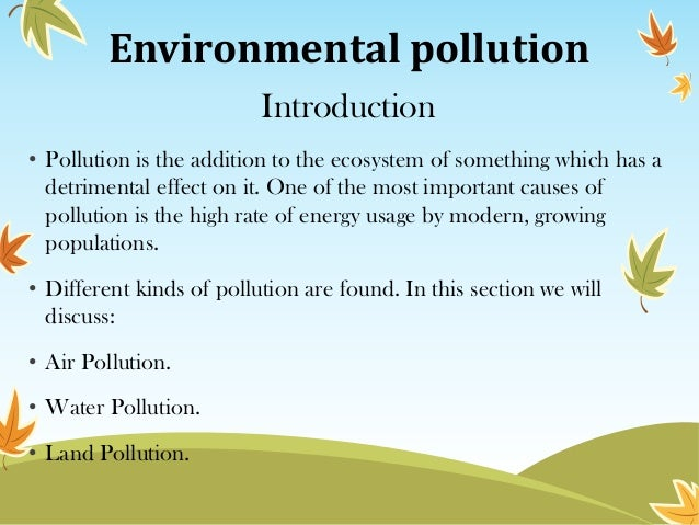example thesis statement air pollution