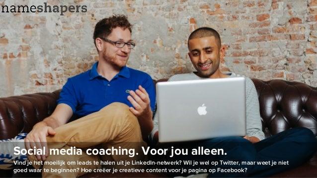 Social media coaching. Voor jou alleen. Vind je het moeilijk om leads te halen uit je LinkedIn-netwerk? Wil je wel op Twit...