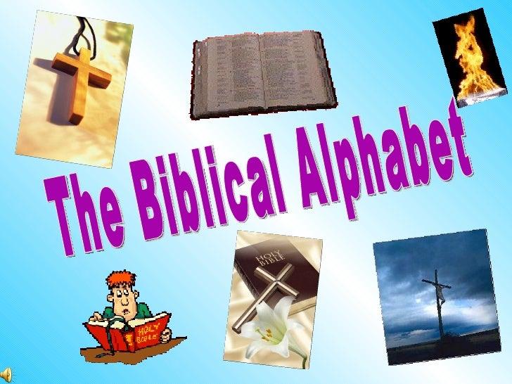 The Biblical Alphabet