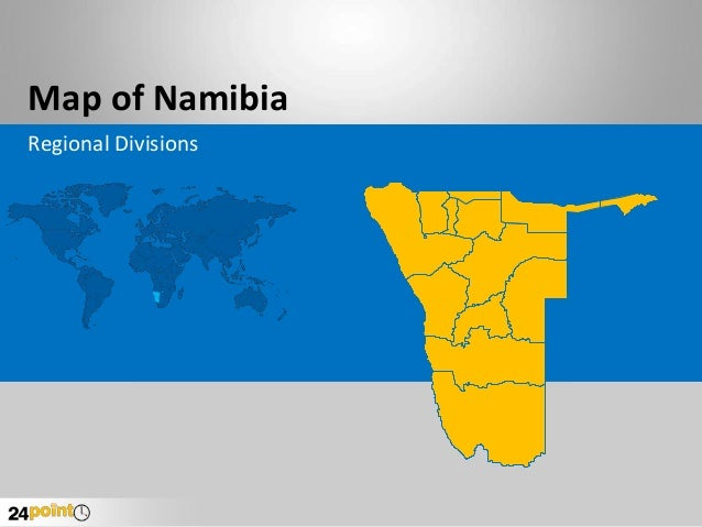 Map of Namibia Regional Divisions