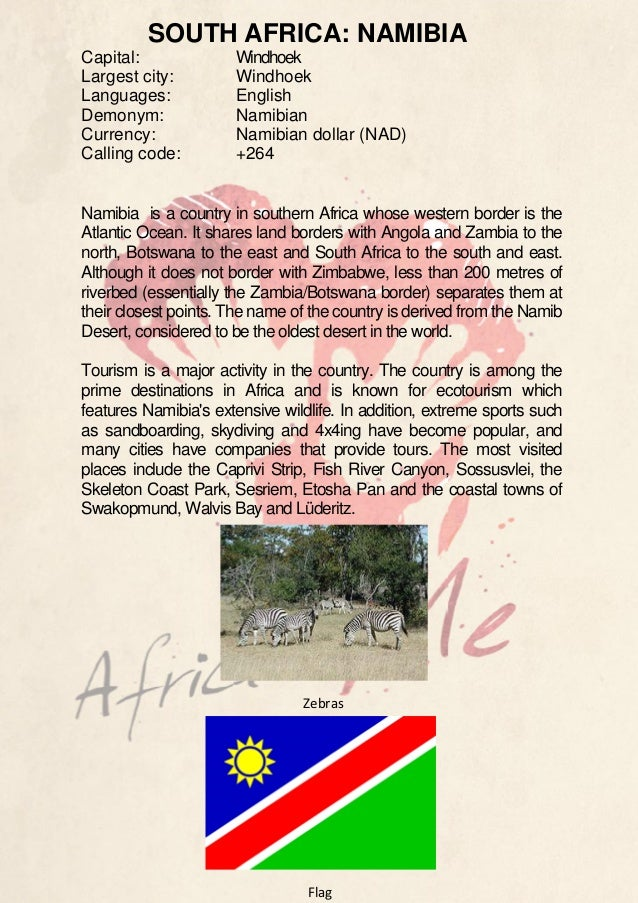 Country Description - Namibia