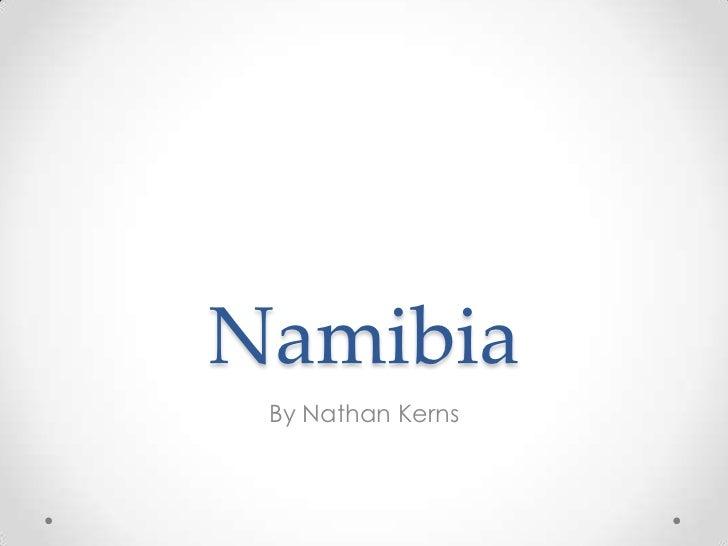 Namibian presentation