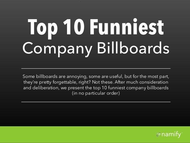 Top 10 Funniest Billboards