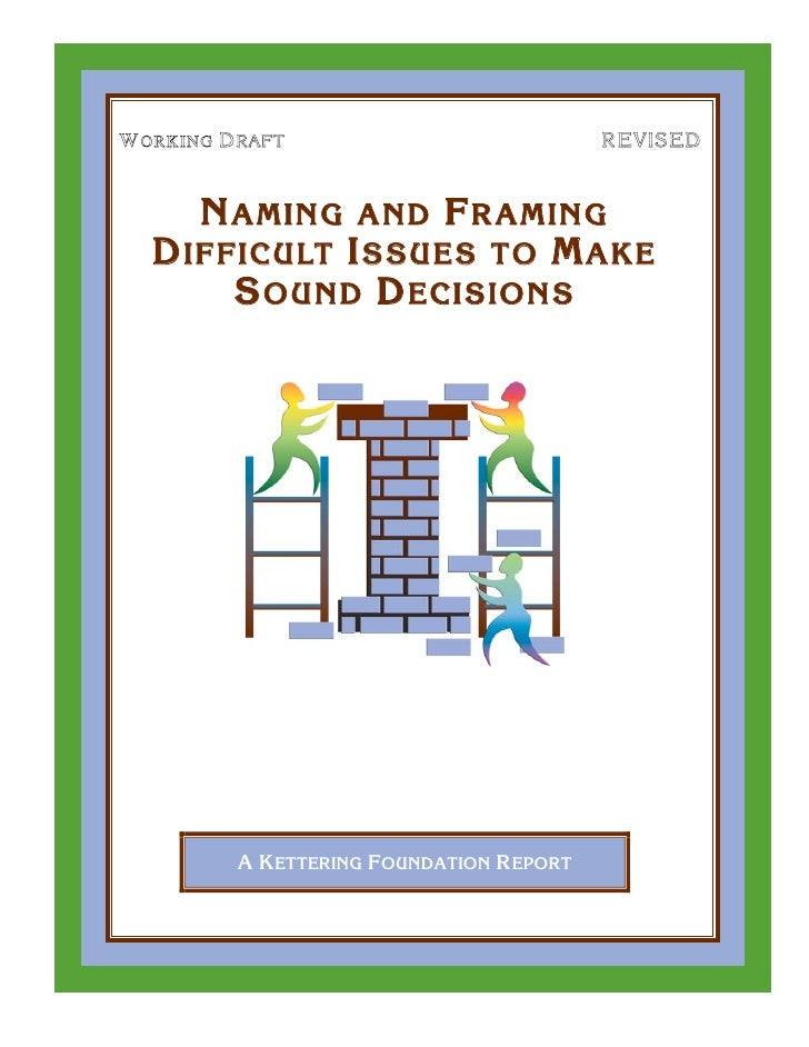 Naming And Framing Booklet