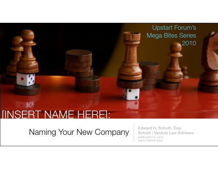 Naming Your New Company - 2010