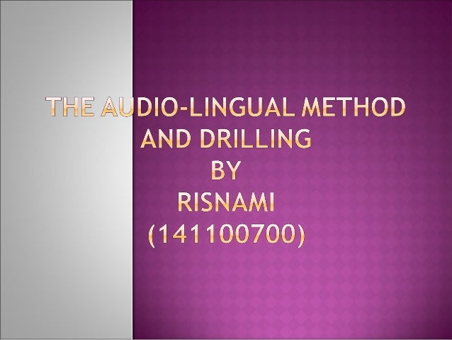 The Audiolingual Method is a method for foreign language teaching which emphasized the teaching of listening and speaking ...