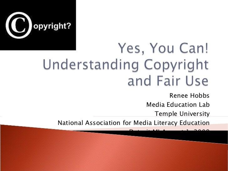 Renee Hobbs Media Education Lab Temple University National Association for Media Literacy Education Detroit MI August 1, 2...