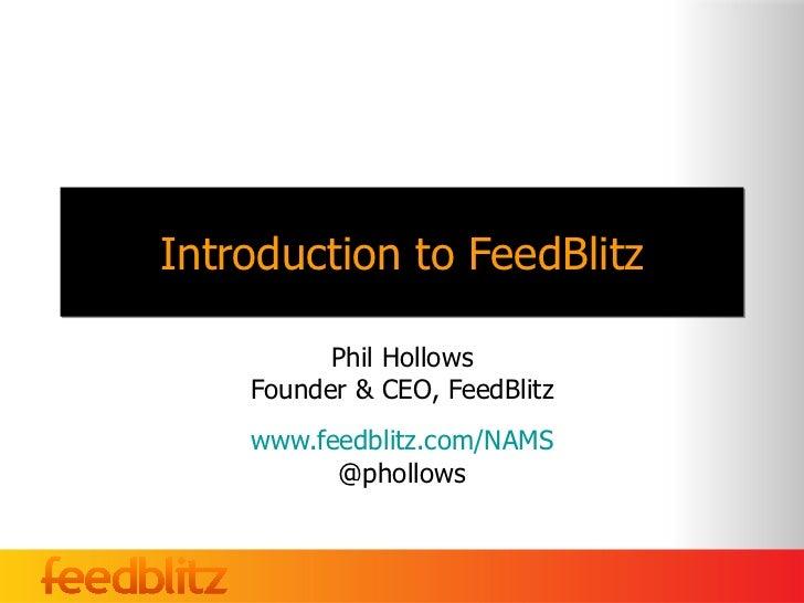 Nams introduction to feedblitz