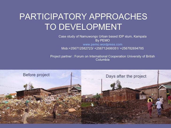 Namuwongo Participatory Approaches To Development