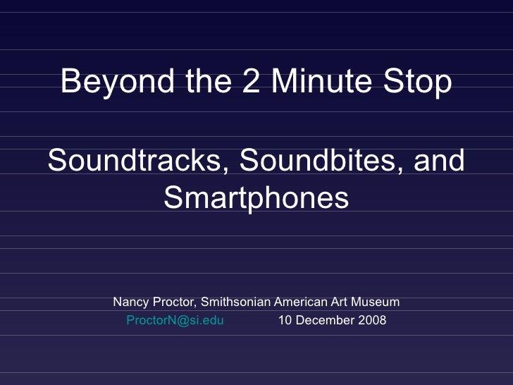 Nancy Proctor DEN Smartphone Workshop