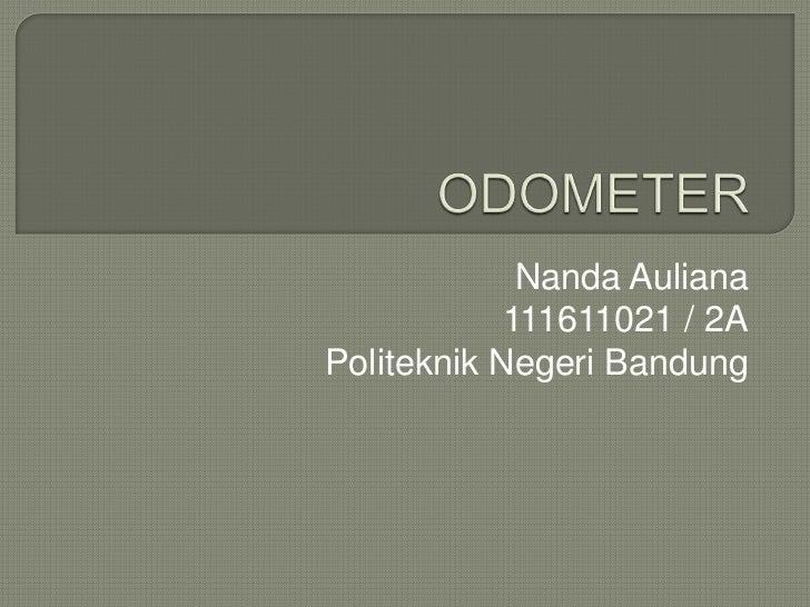 Nanda Auliana            111611021 / 2APoliteknik Negeri Bandung