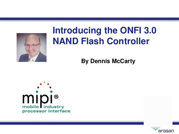 ONFI 3.0 NAND Flash Controller