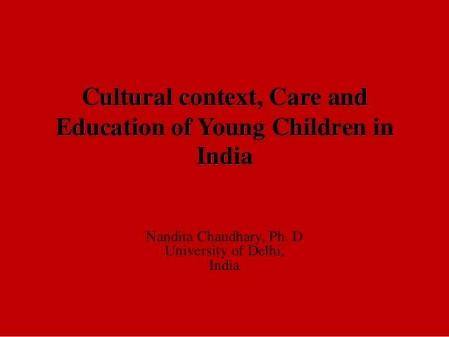 Nandita Chaudhary EECERA 2013 Keynote