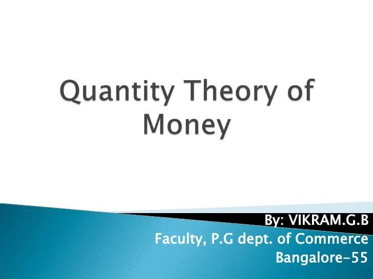 By: VIKRAM.G.BFaculty, P.G dept. of Commerce                   Bangalore-55