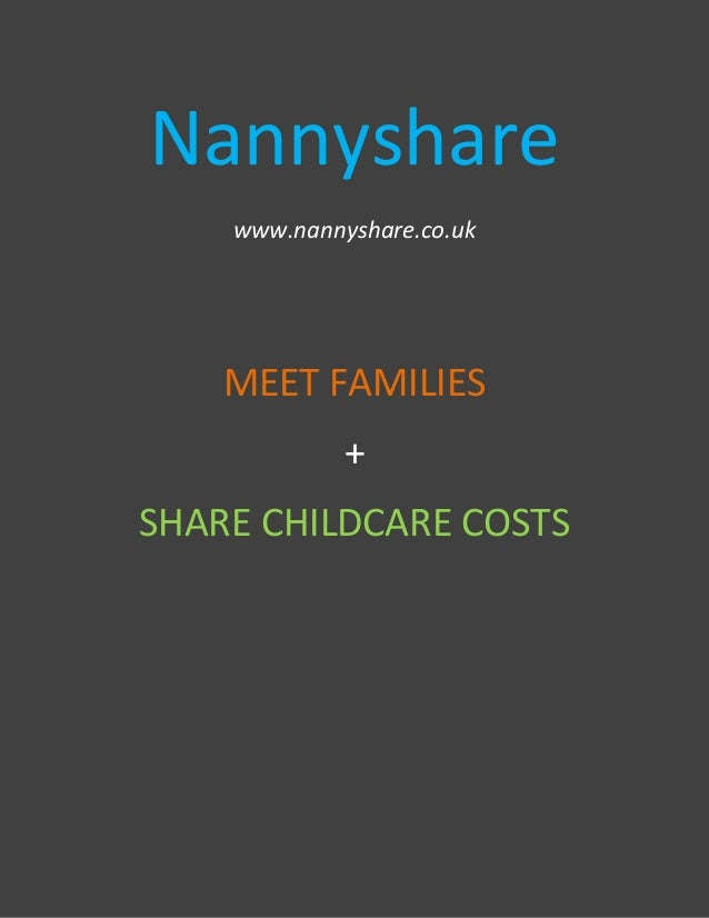 Nannyshare Nanny sharing with Families