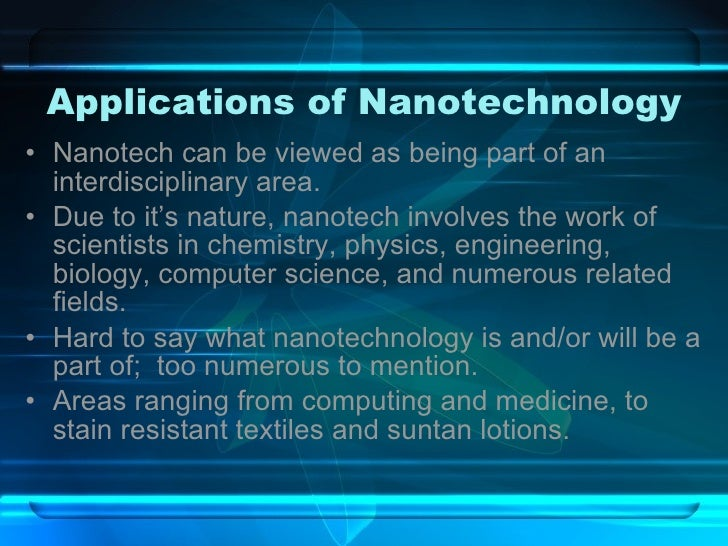 nanotechnology the future of chemistry and engineering Unbounding the future: the nanotechnology revolution that field will replace both chemistry as we know it and mechanical engineering as we know it exploratory engineering looks at future possibilities to help guide our attention in the present.
