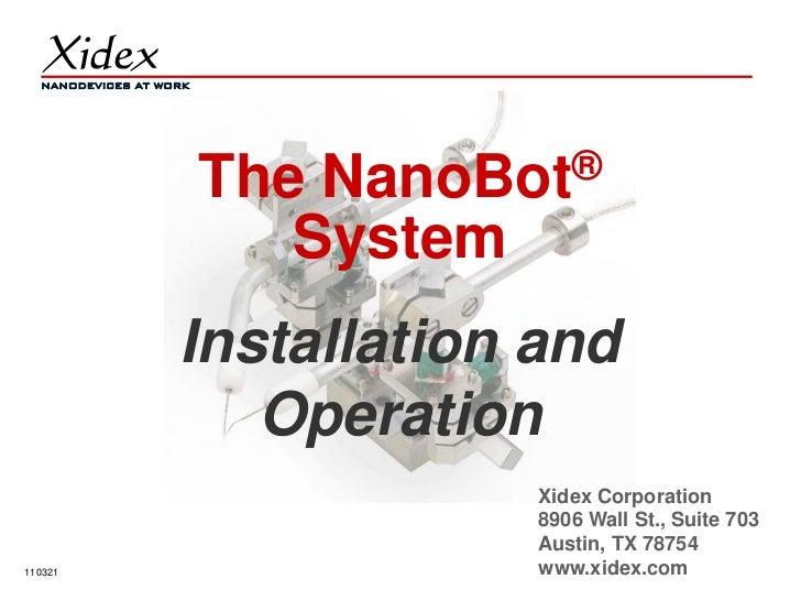 NanoBot nanomanipulator installation and operation   110321