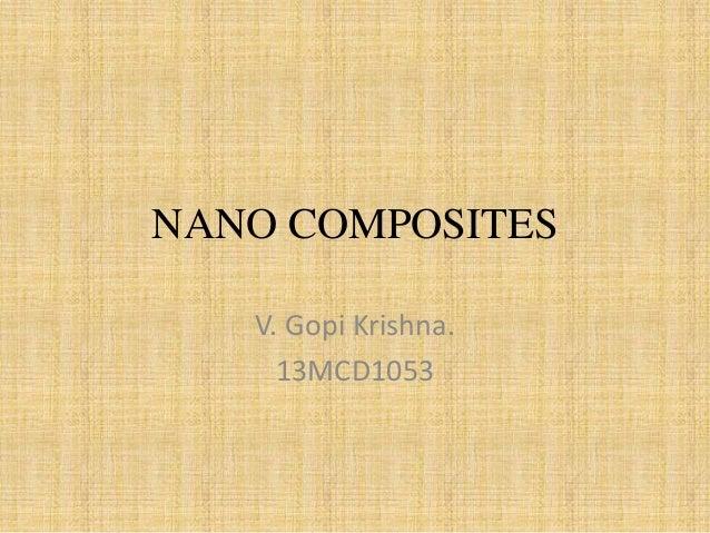 Nanocomposites gopi