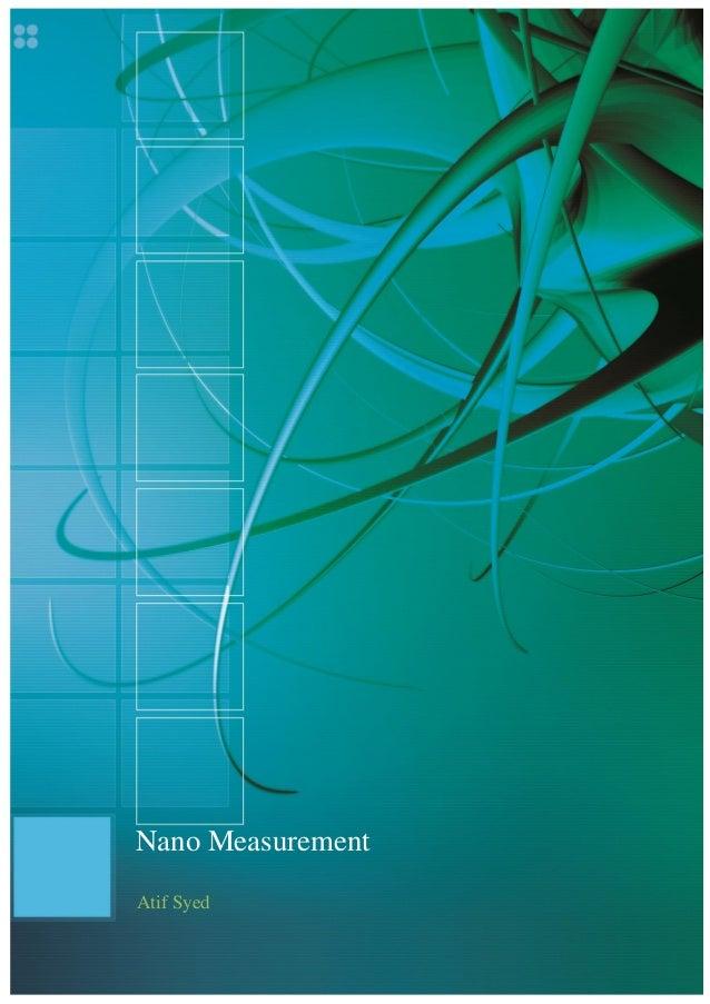 Nano MeasurementAtif Syed