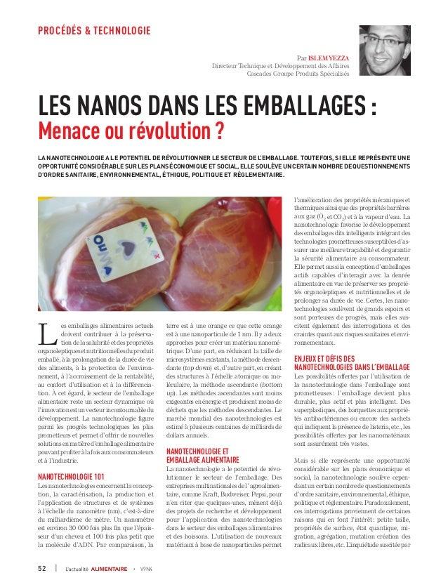 Les nanotechnologies dans les emballages alimentaires : menace ou révolution?