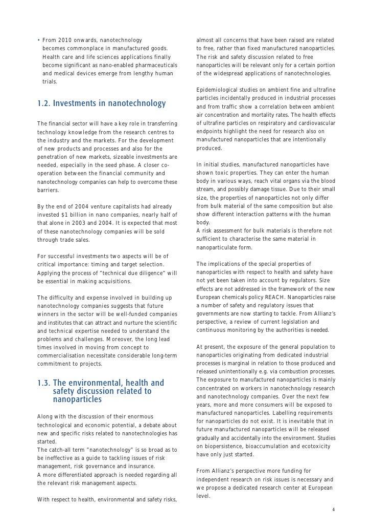 Advantages & Disadvantages of Nanotechnology