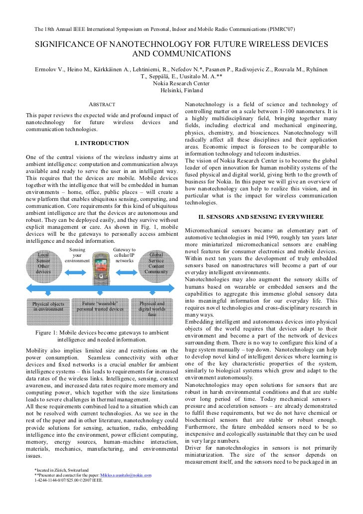 The 18th Annual IEEE International Symposium on Personal, Indoor and Mobile Radio Communications (PIMRC07)   SIGNIFICANCE ...