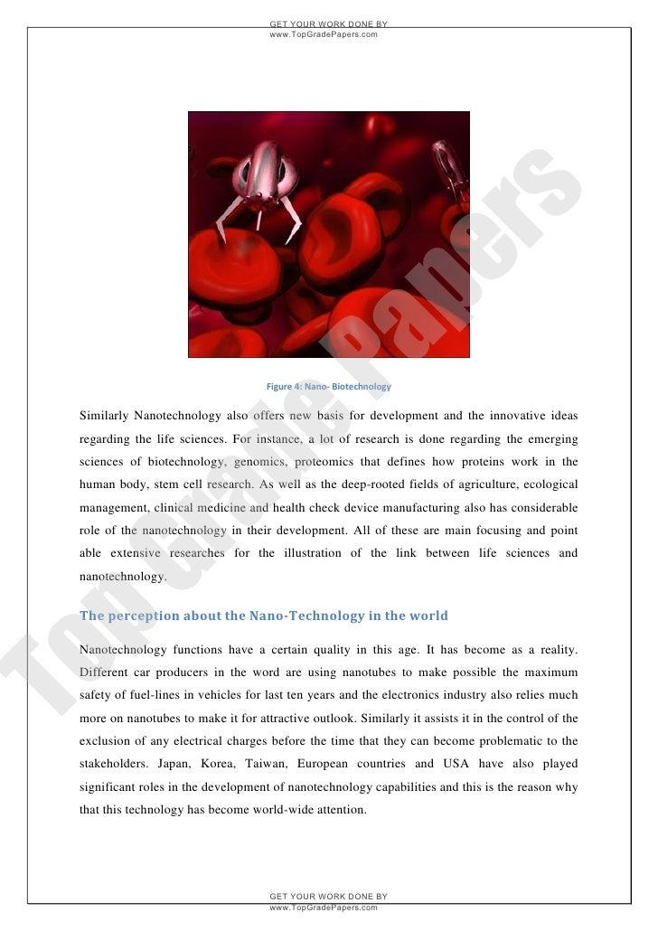 Nanotechnology essay