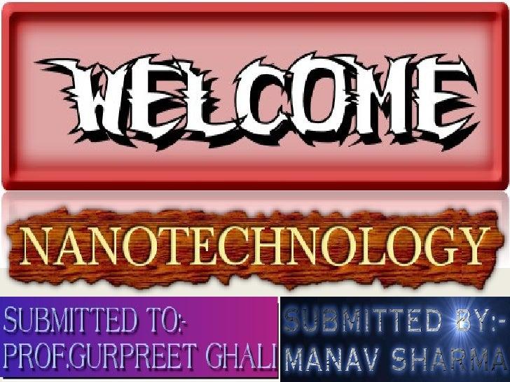 Nanotechnology Manav Sharma,Life909