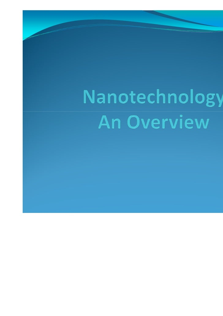 Is nanotechnology the gateway to the future forhuman beings on Earth?          Where does our imagination take us?        ...
