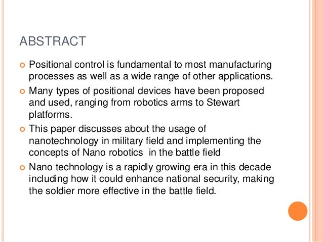 technology in the military essay The electronic robotics in military applications information technology essay each new military technology.