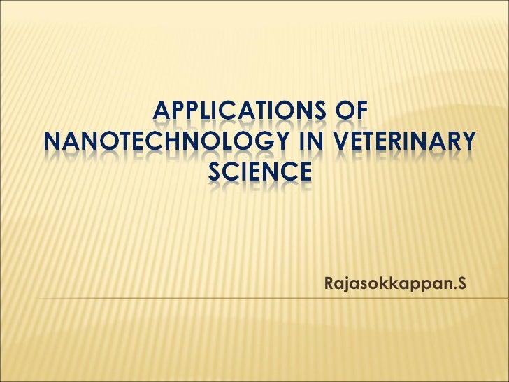 Nanotechnology in veterinary medicine