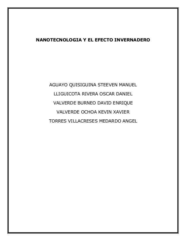 Nanotecnologia y efecto invernadero (1)