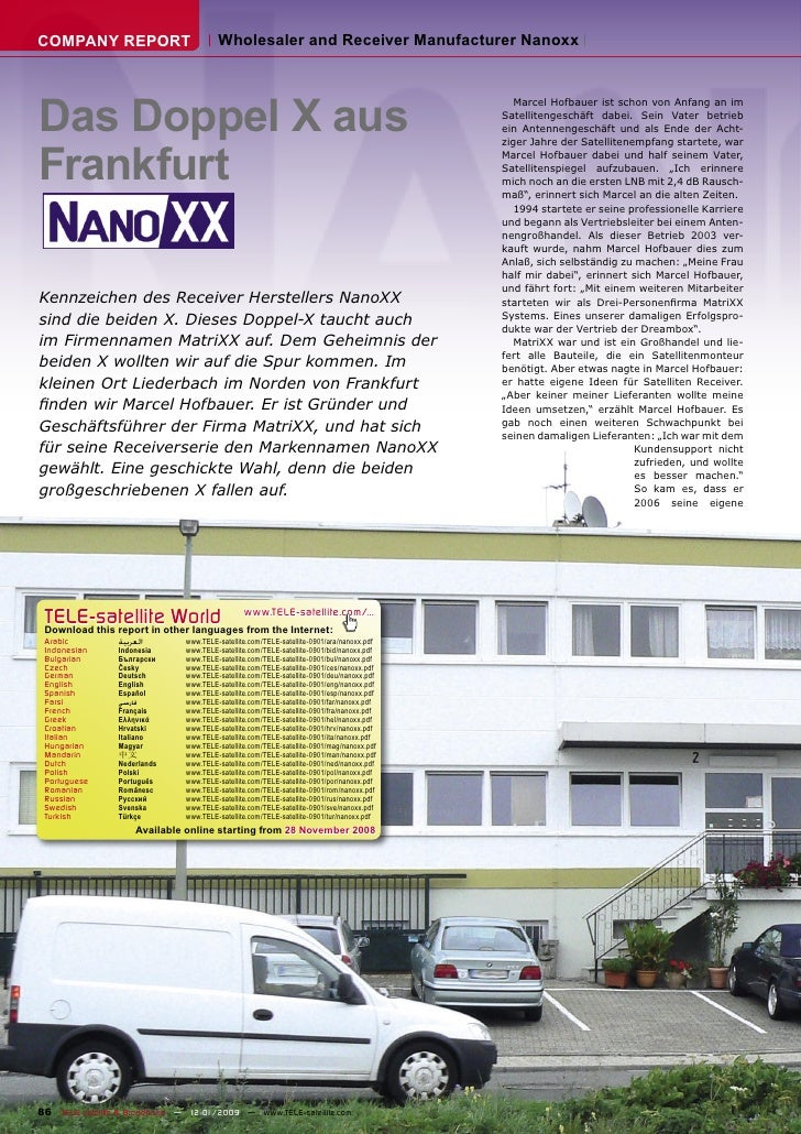 COMPANY REPORT                          Wholesaler and Receiver Manufacturer Nanoxx     Das Doppel X aus                  ...