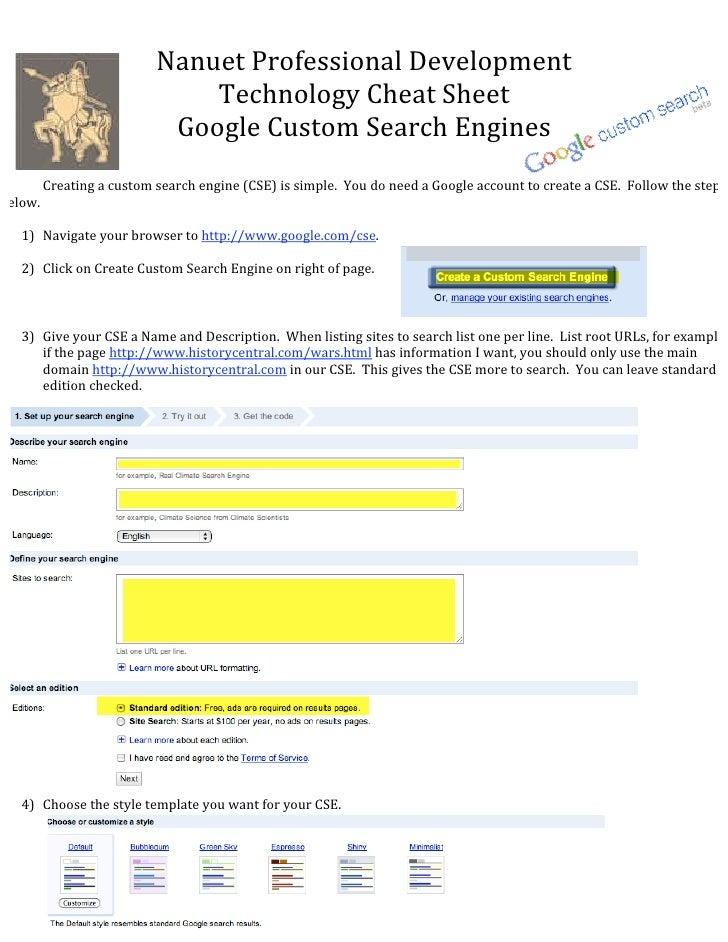 NanuetProfessionalDevelopment                               TechnologyCheatSheet                            GoogleC...