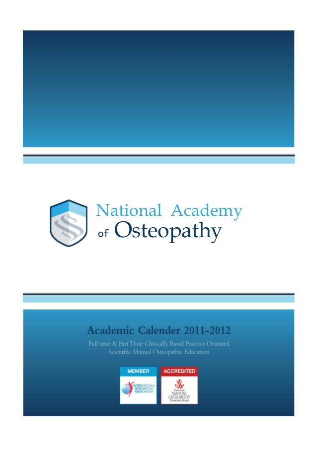 The South Korean Academic Calendar - National Academy of Osteopathy, Seoul Admissions Office