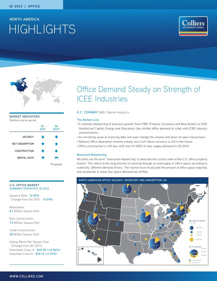 Q1 2012 | OFFICENORTH AMERICAHIGHLIGHTS                                               Office Demand Steady on Strength of ...