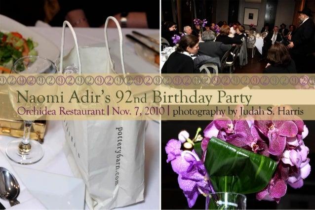 Naomi Adir's 92nd Birthday Party
