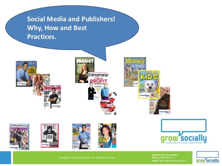 Social Media for Publishers! Why, How and Best Practices.