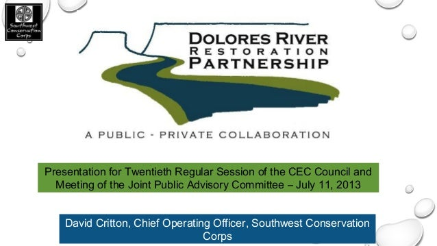Presentation for Twentieth Regular Session of the CEC Council and Meeting of the Joint Public Advisory Committee – July 11...