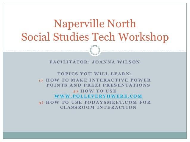 Naperville north tech workshop day 1