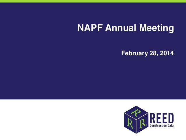 NAPF Annual Meeting February 28, 2014