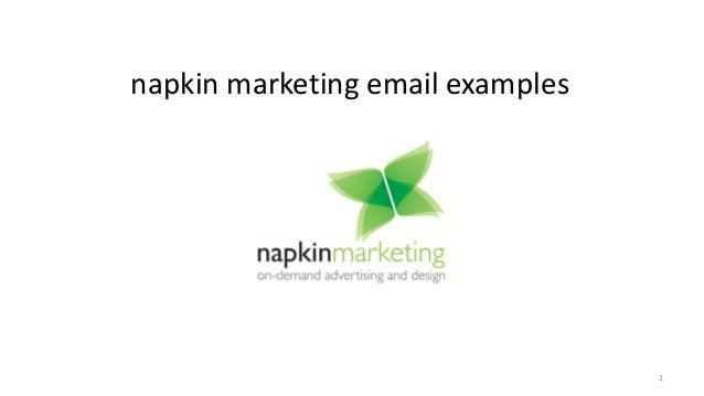 napkin marketing email marketing examples
