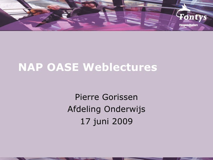 NAP OASE Weblectures