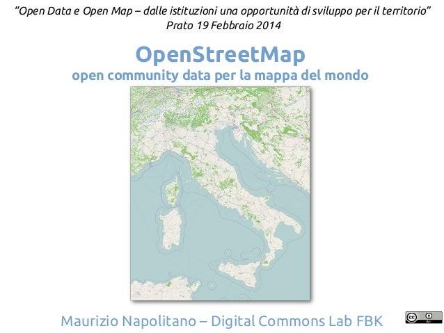 OpenStreetMap: open community data per la mappa del mondo