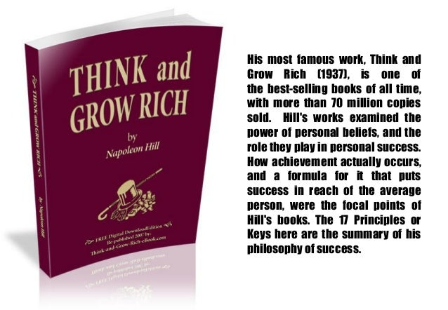 philosophy of success napoleon hill pdf