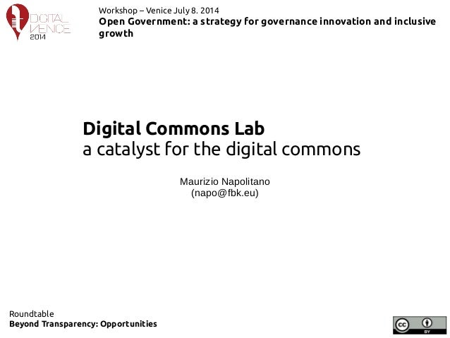 DigitalCommonsLab: a catalyst for the digital commons