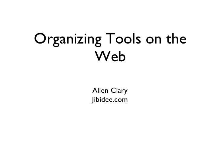 NAPO - Organizing Tools on the Web